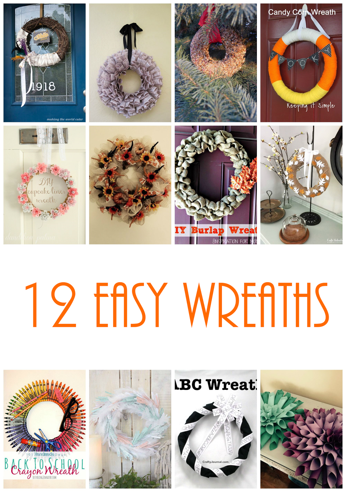 12 Easy Fall Wreaths