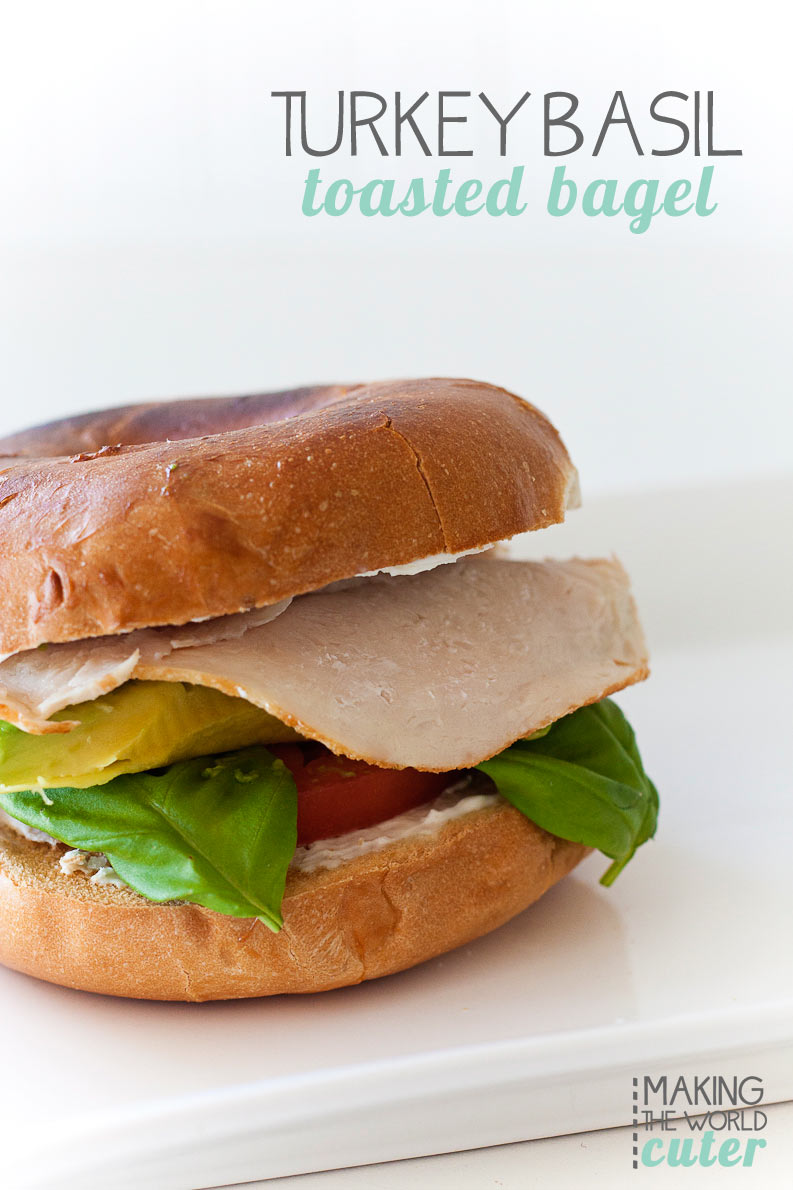 Turkey Basil Toasted Bagel