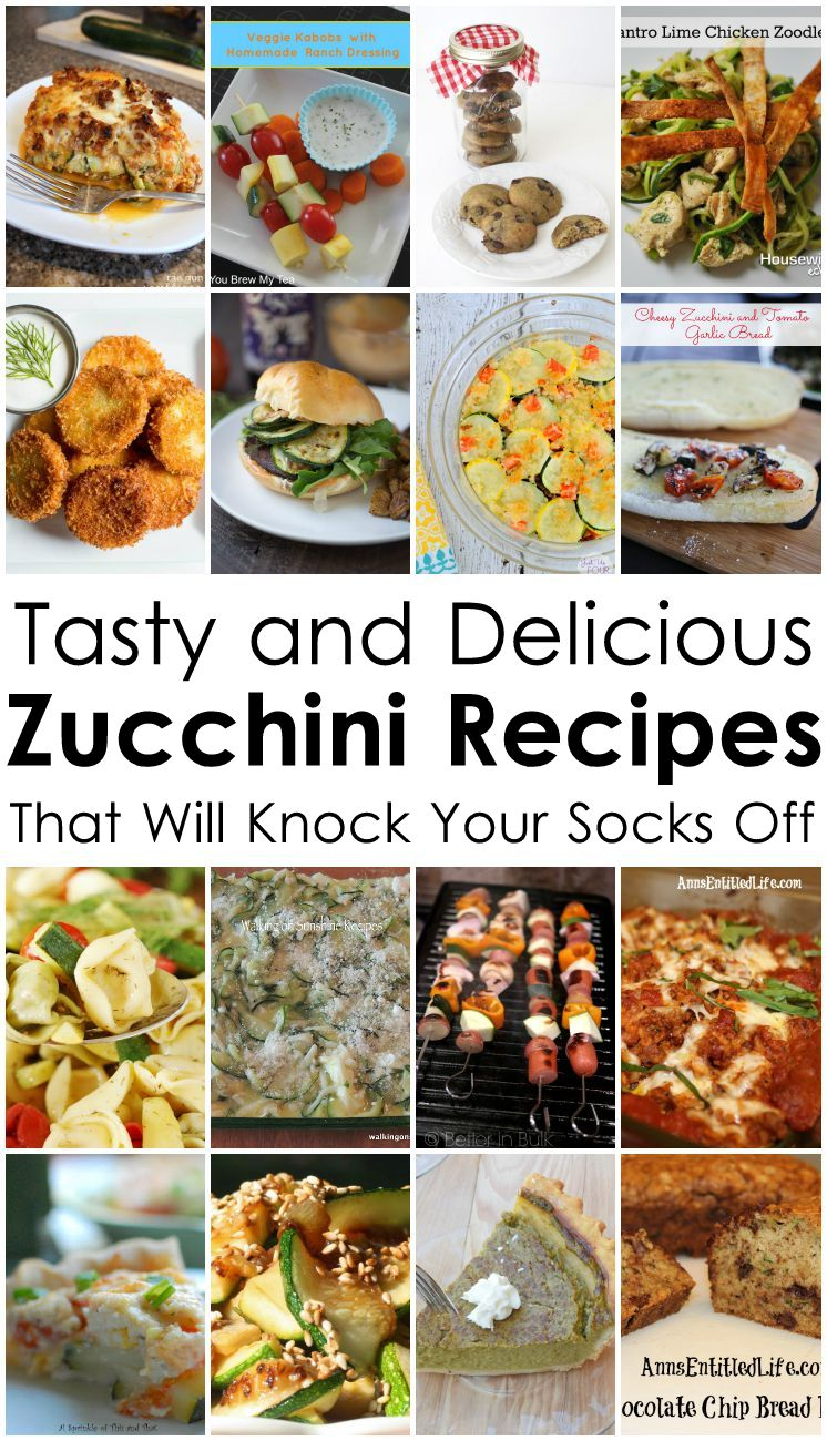 Tasty and Delicious Zucchini Recipes