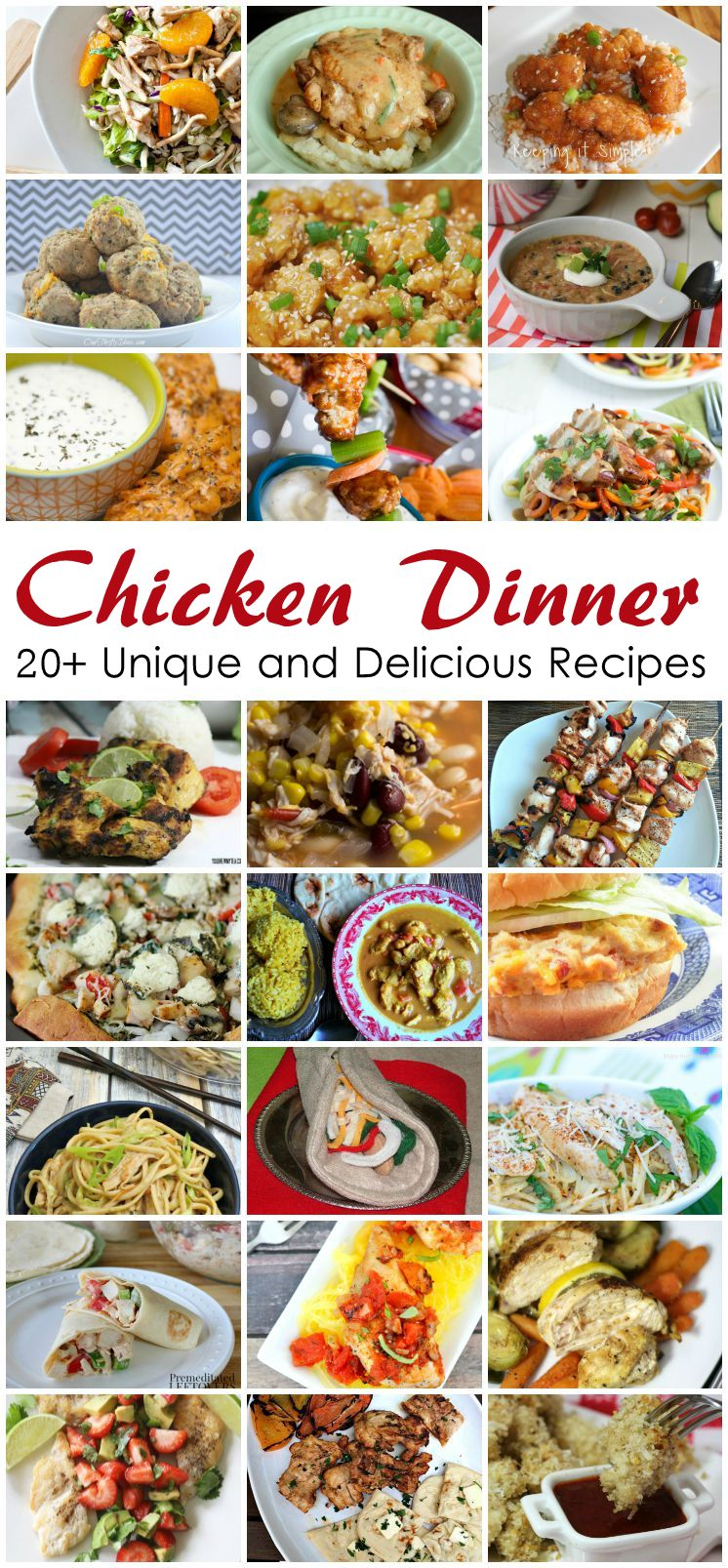 20+ Chicken Dinner Recipes