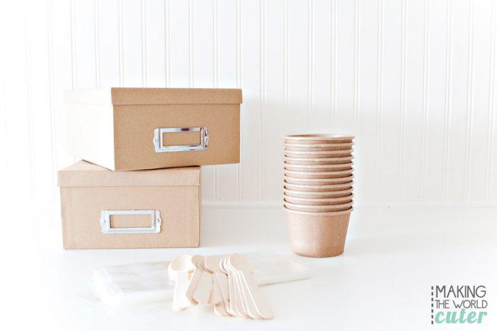 DIY Ice Cream Sundae Gift Box. #SundaeFundae