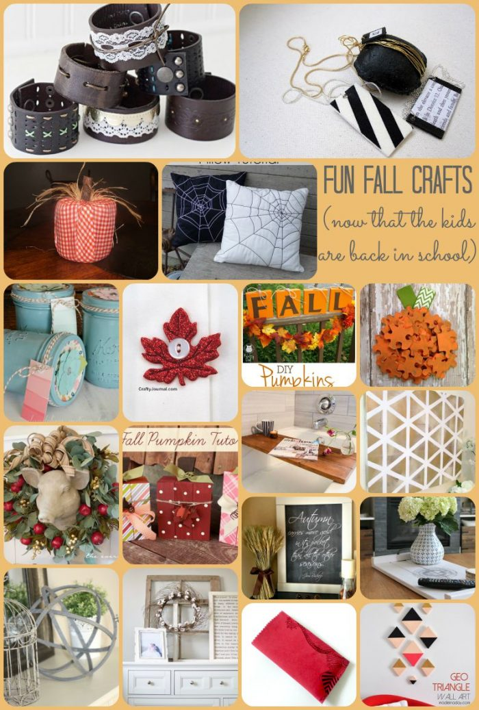 Fun Fall Crafts now that the kids are back in school! Ooh! Lots of fun ideas on here! Love them!