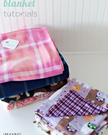Easy Beginner Blankets for Family service project. #Lukesloves #ProjectLinus