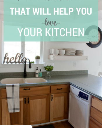 How to Do a Mini Kitchen Makeover in a weekend, with just a few hundred dollars (or less), and totally transform and LOVE your kitchen!