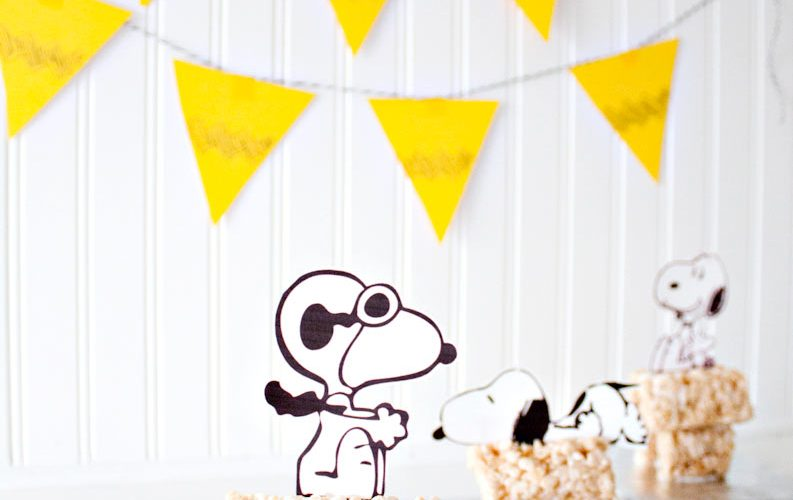 Rice Krispie Treat Snoopy House