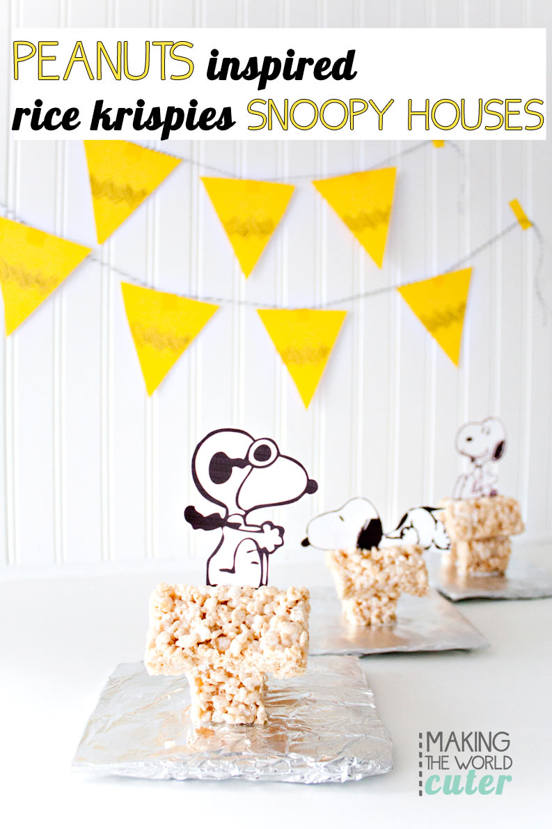 Rice Krispie Treat Snoopy House