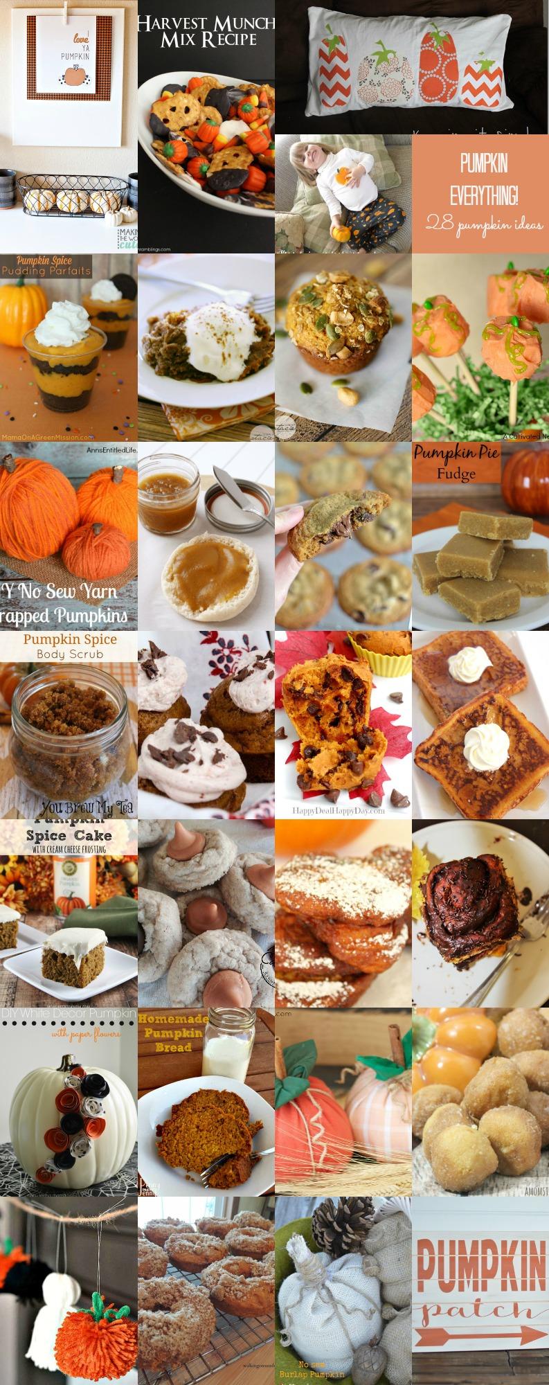 Pumpkin Everything! 28 Pumpkin Ideas, crafts and recipes