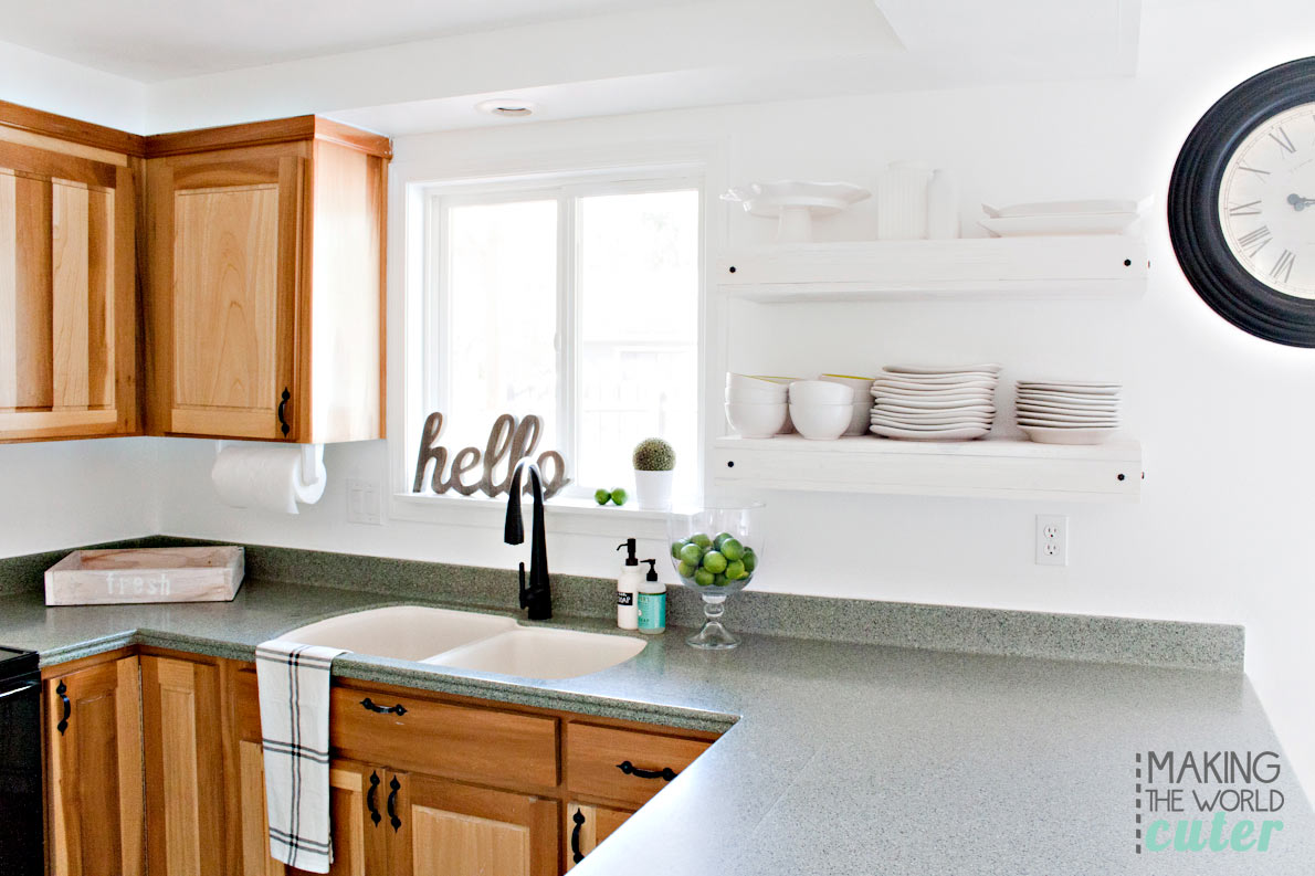 Making the World Cuter Kitchen Revamp, Easy DIY tricks to change the look of the whole kitchen.