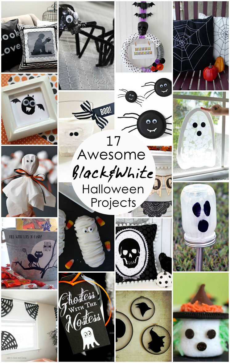 17 Black and White Halloween Projects