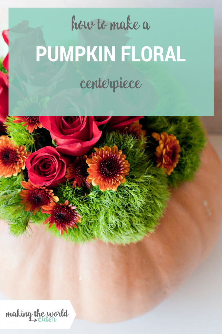 Beautiful Pumpkin Floral Centerpiece perfect for any fall or Thanksgiving table