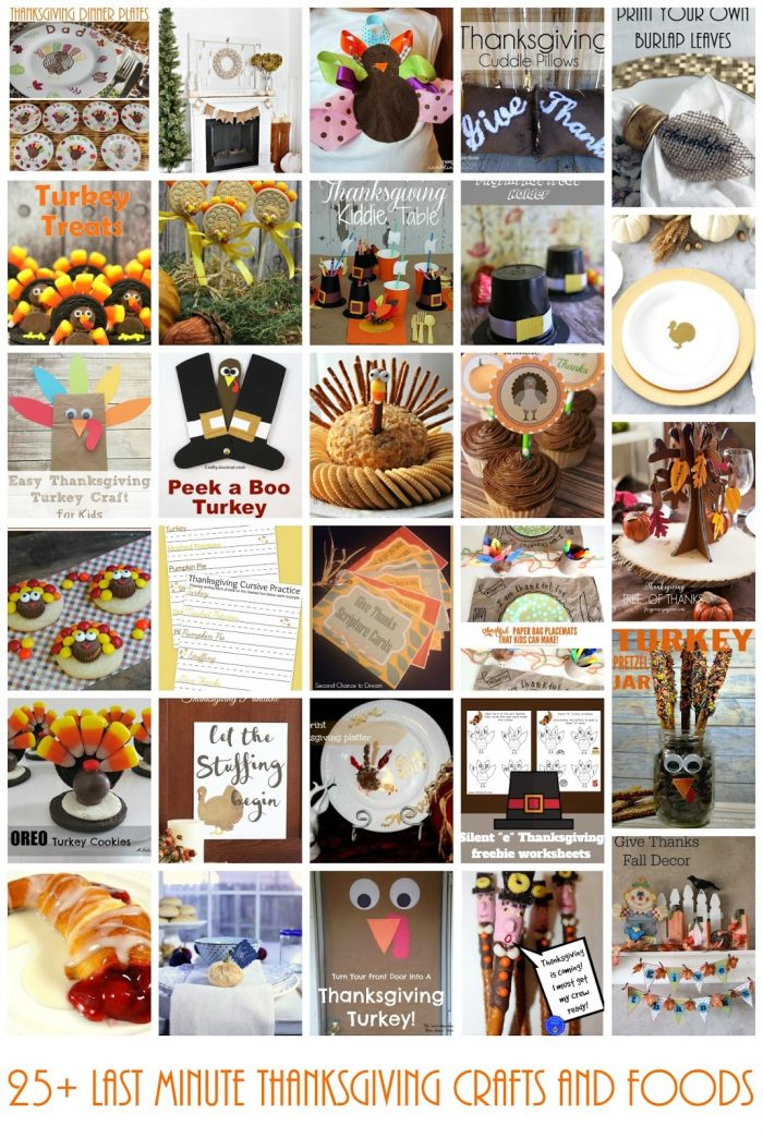 25 Thanksgiving Crafts and Treats