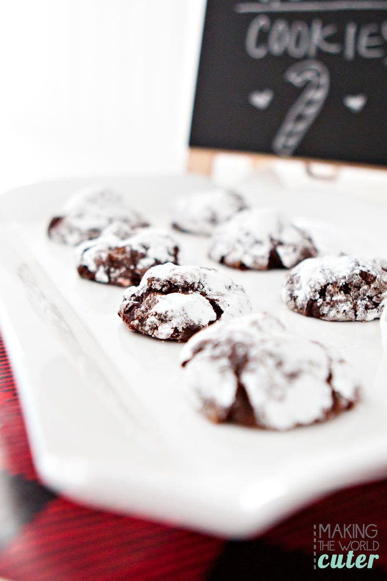 Hershey's Flourless Chocolate Peppermint Kiss Cookies. So delicious! Perfect for Christmas cookie exchange parties, gluten free friends and neighbor gifts.