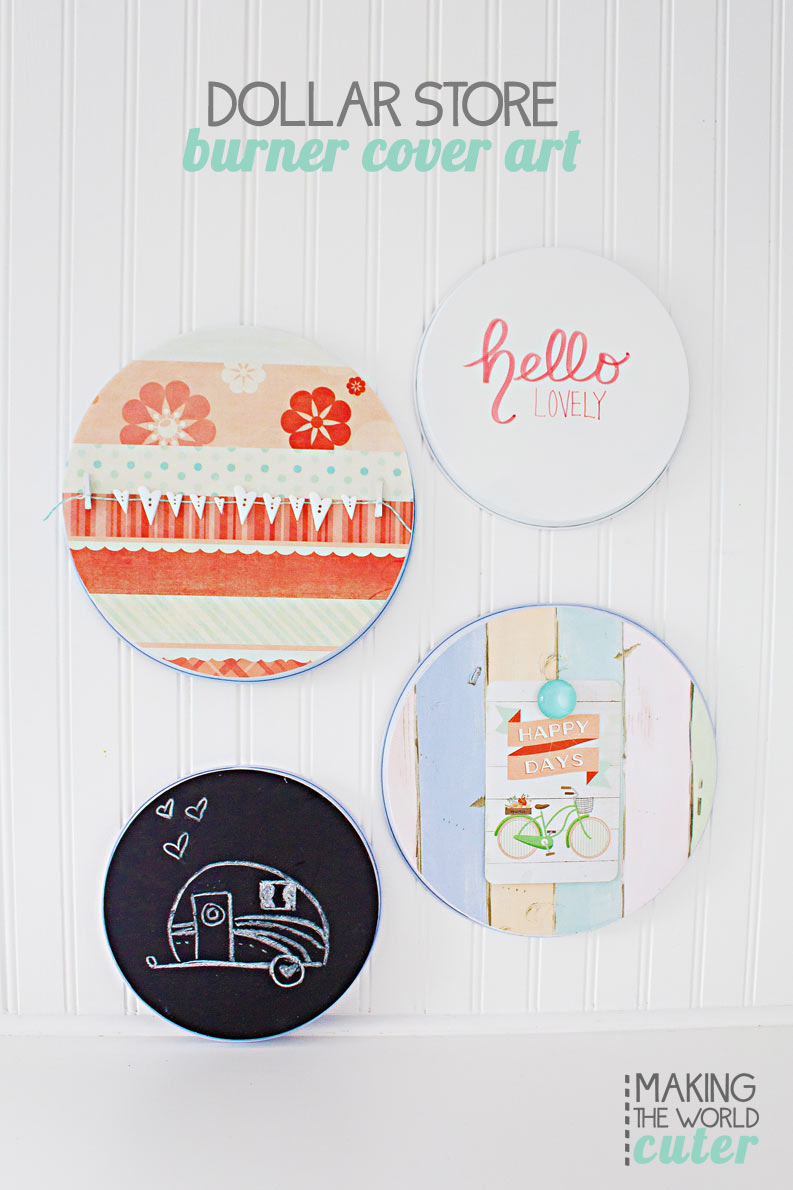 Burner Cover Craft Projects. Make magnet boards, chalkboards, paper piecing and handwritten signs for super inexpensive, and super cute! Great craft stash buster!