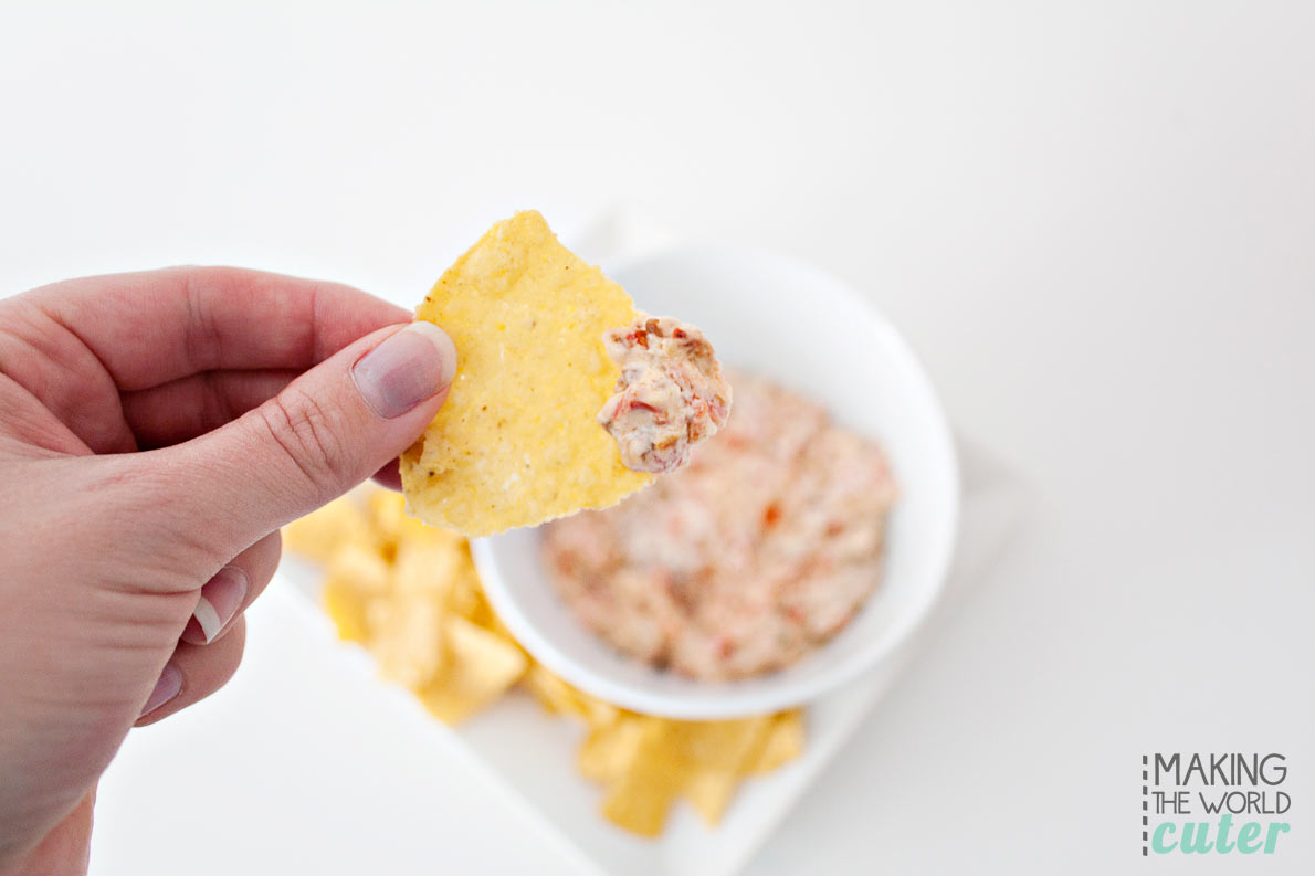 3 ingredient sausage queso dip, perfect for the Superbowl, tailgating and potlucks. Super easy recipe that's ready in minutes and super delicious!