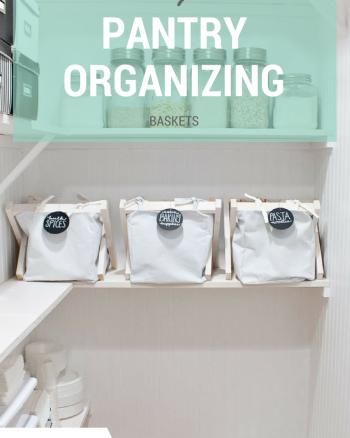 DIY pantry organizing baskets