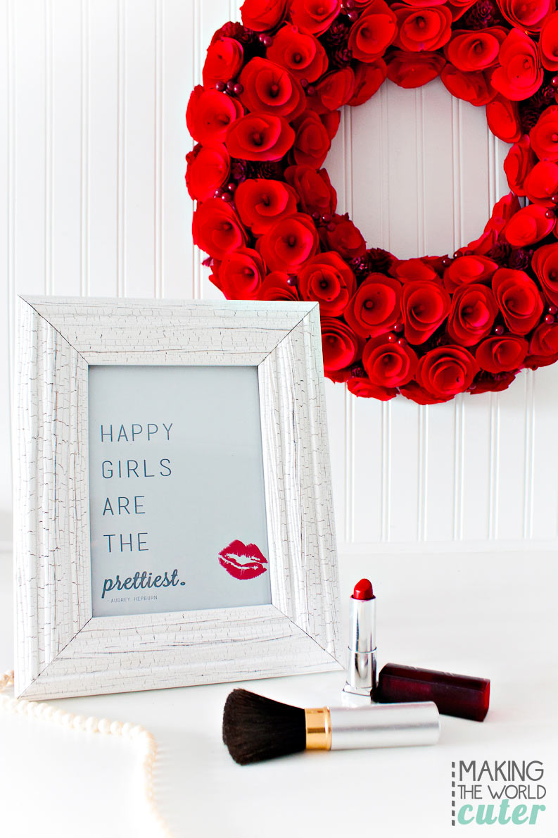 Happy Girls are the Prettiest free printable