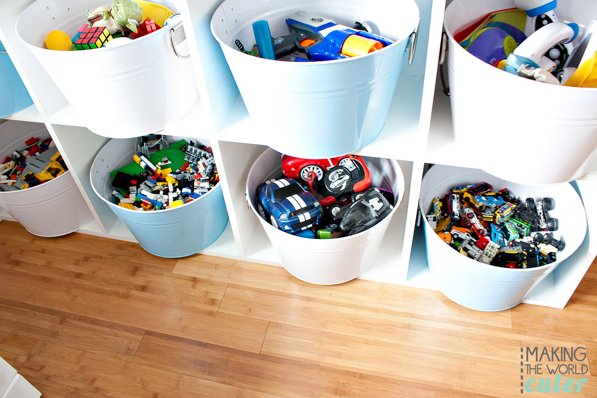 Playroom Ideas for storage, decor and organization.