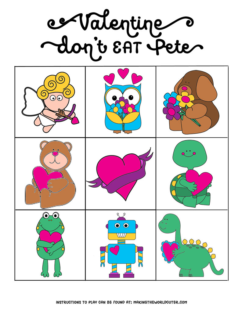 graphic regarding Don't Eat Pete Printable named Valentine-Dont-Consume-Pete-Coloration-4x6