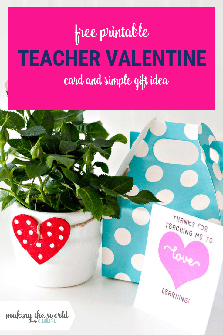 photo regarding Printable Valentine Card for Teacher named Instructor Valentine Card