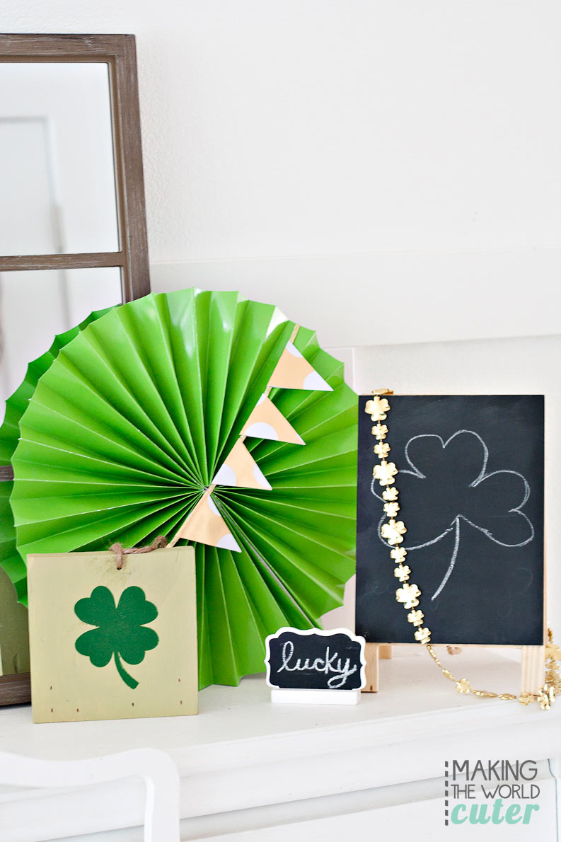 Making the World Cuter St Patrick's Mantel Decor