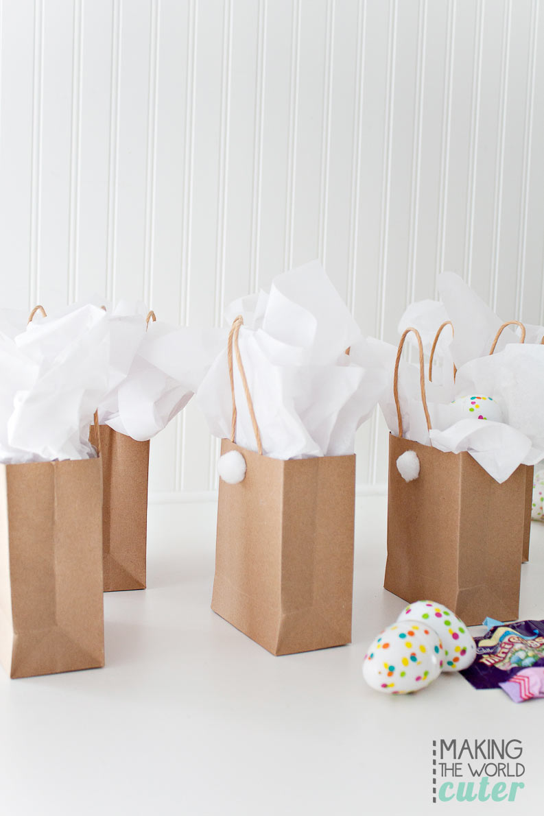 Easter bunny gift bags diy easter bunny gift bags super easy and cute for class parties egg hunts negle Gallery