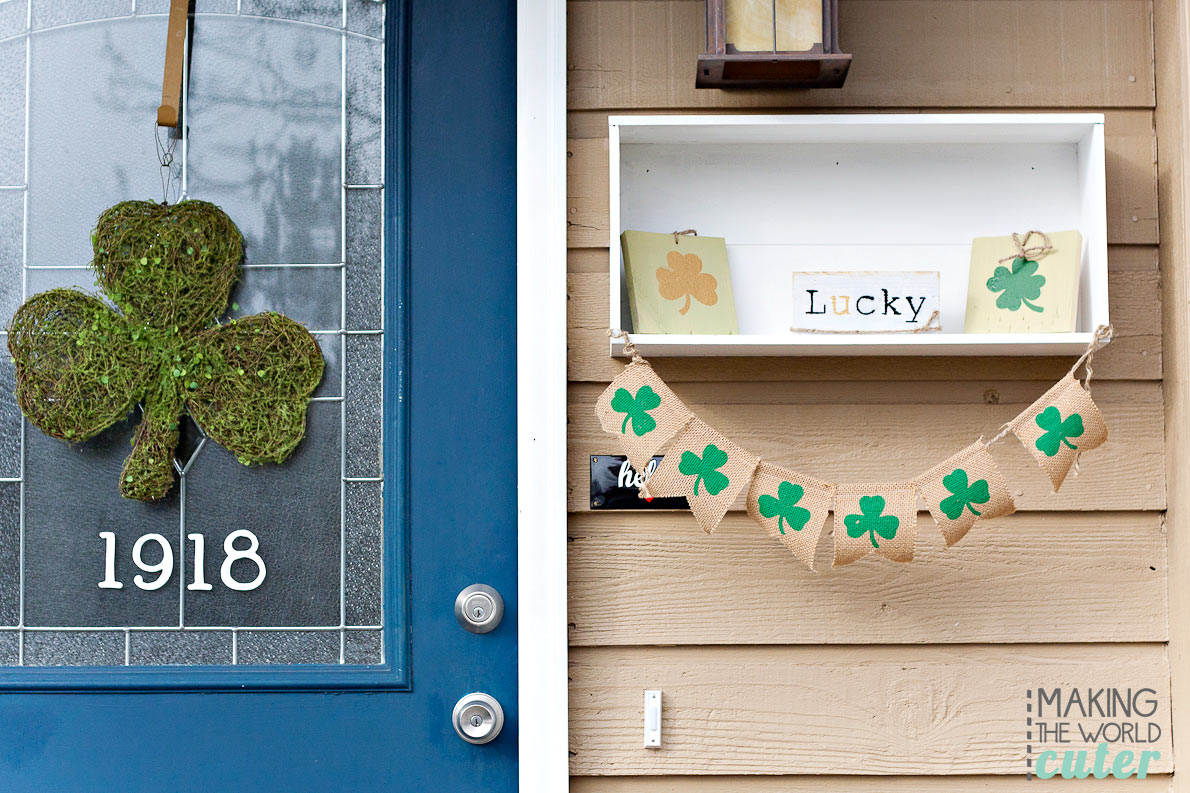Lucky-St-Patrick's-Mantel-Decor