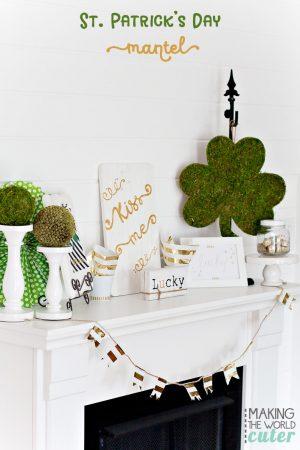 Making-the-World-Cuter-St-Patrick's-Mantel-Decor