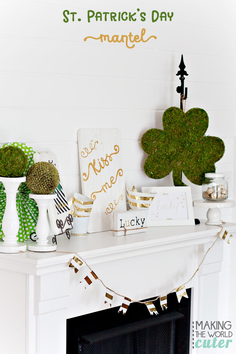 Making-the-World-Cuter-St-Patrick's-Mantel-Decor
