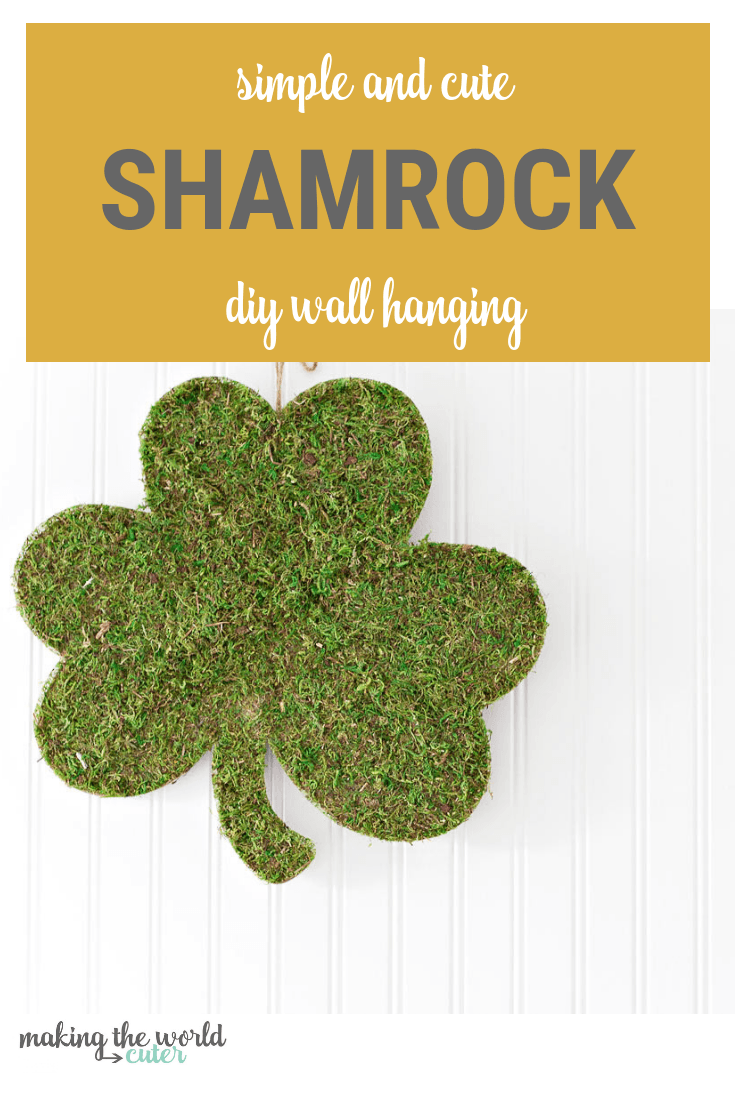 DIY Shamrock Wall Hanging. Super easy to make!