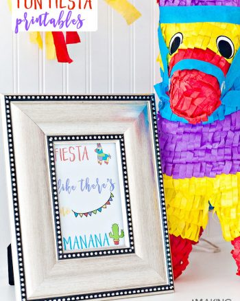Fiesta Like There's No Manana! Super cute free fiesta party printables for Cinco de Mayo or any other fiesta party!