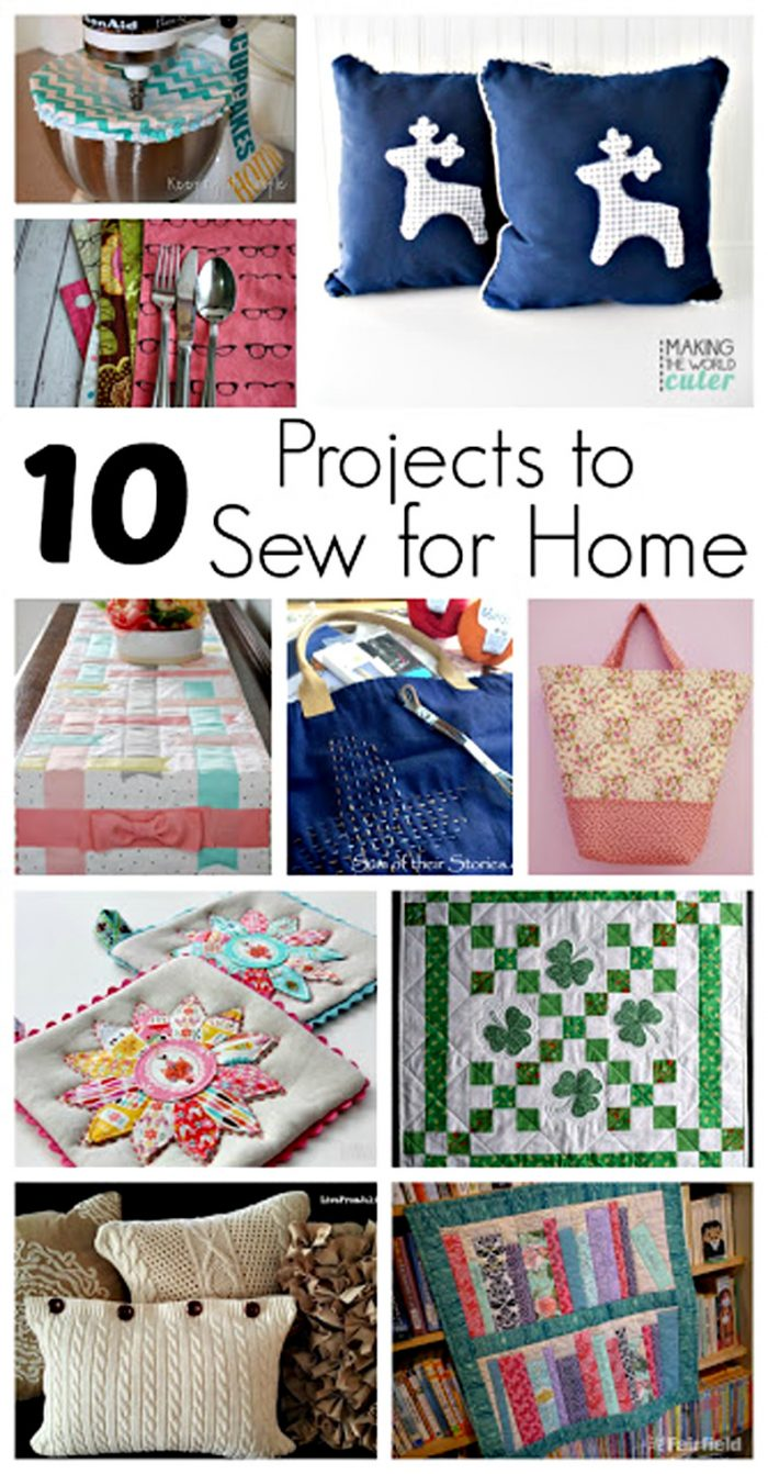10 Projects to Sew For Home