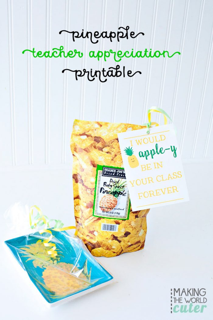 Teacher Appreciation Printables Pineapple-y Goodness