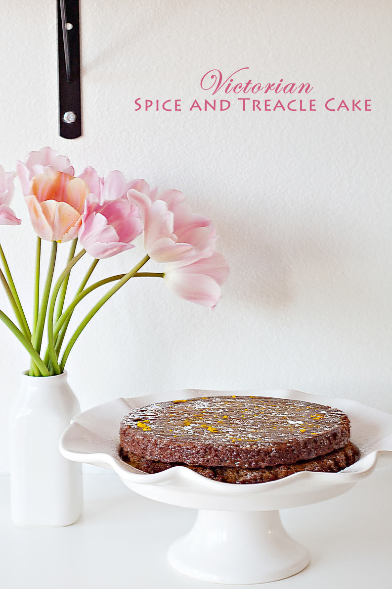 Victorian Treacle Spice Cake Recipe. An heirloom recipe made in the Vitamix. Perfect for mother's day, brunch, birthdays or a yummy spring dessert.