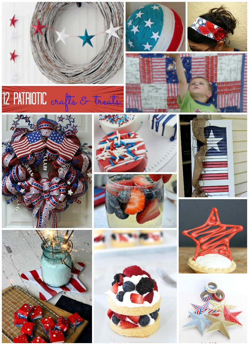 12 Patriotic Crafts and Treats perfect for Memorial Day or Fourth of July...or anytime you want to show some America pride!