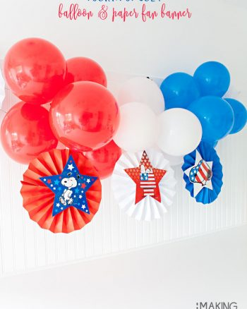DIY Patriotic Balloon Banner