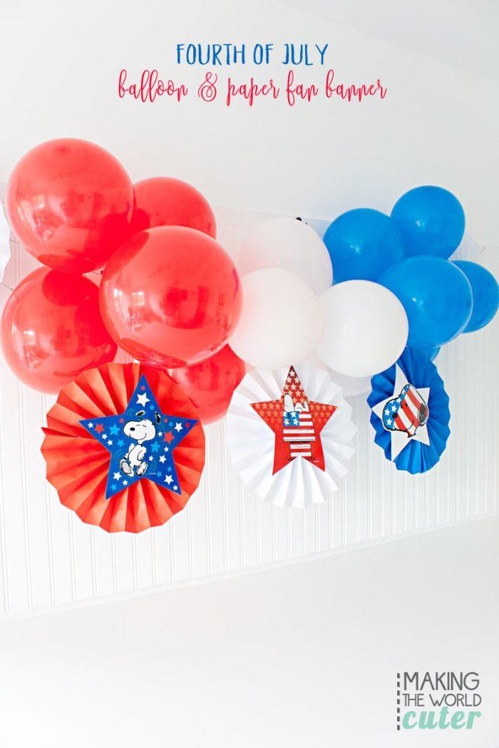 DIY Patriotic Balloon Banner