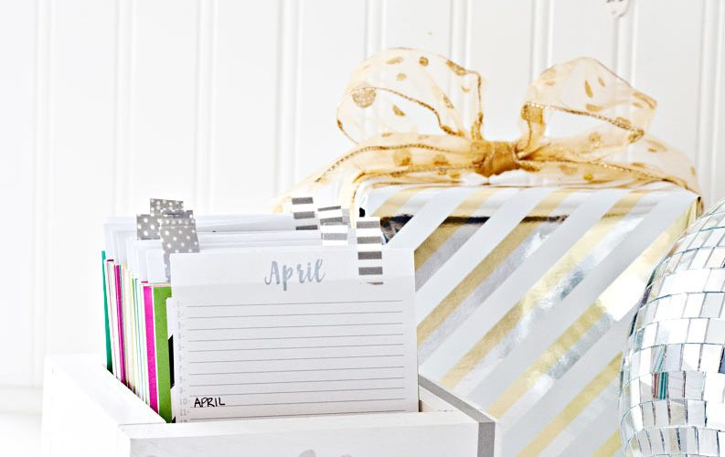 Birthday Reminder Box (With free printable calendars!)