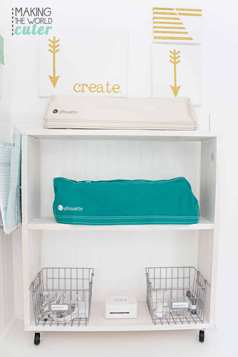 Silhouette Or Cricut Diy Craft Cart Storage Center For Electronic