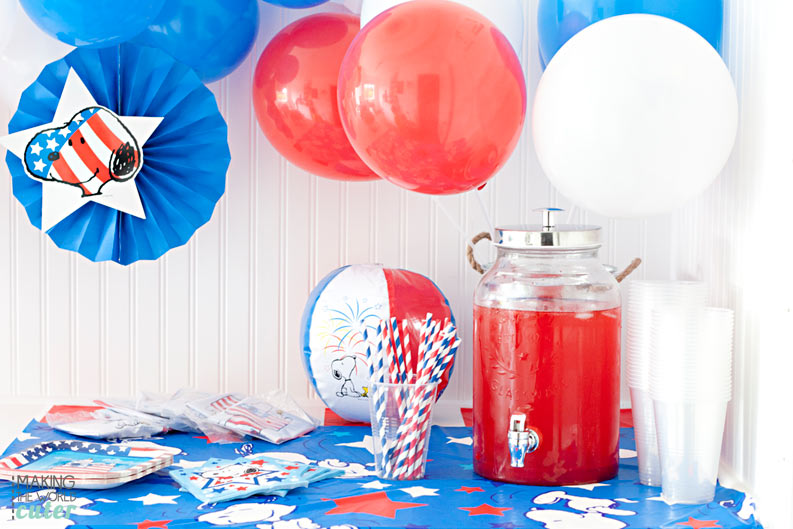 Patriotic Party featuring Peanuts characters