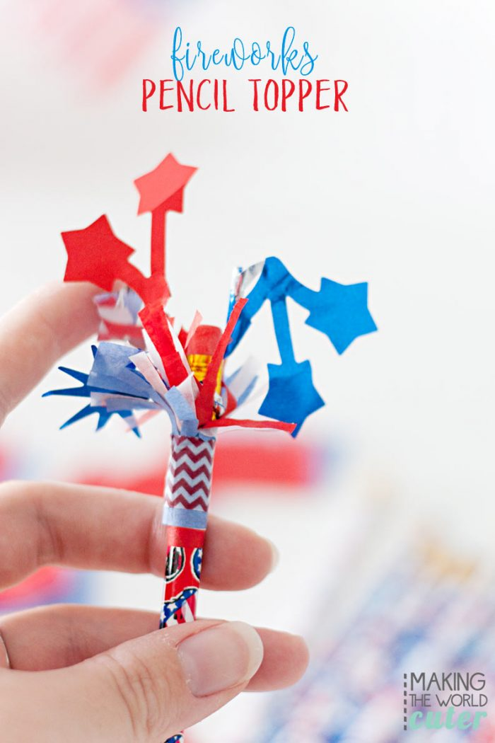 Fireworks Pencil Toppers