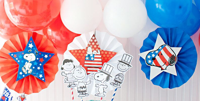 Patriotic Party featuring Peanuts