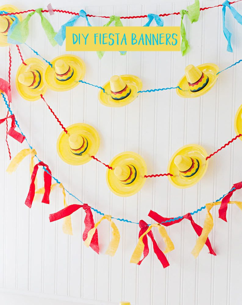 Fiesta Banners, mini sombreros, tissue paper and ric rac...so cute!
