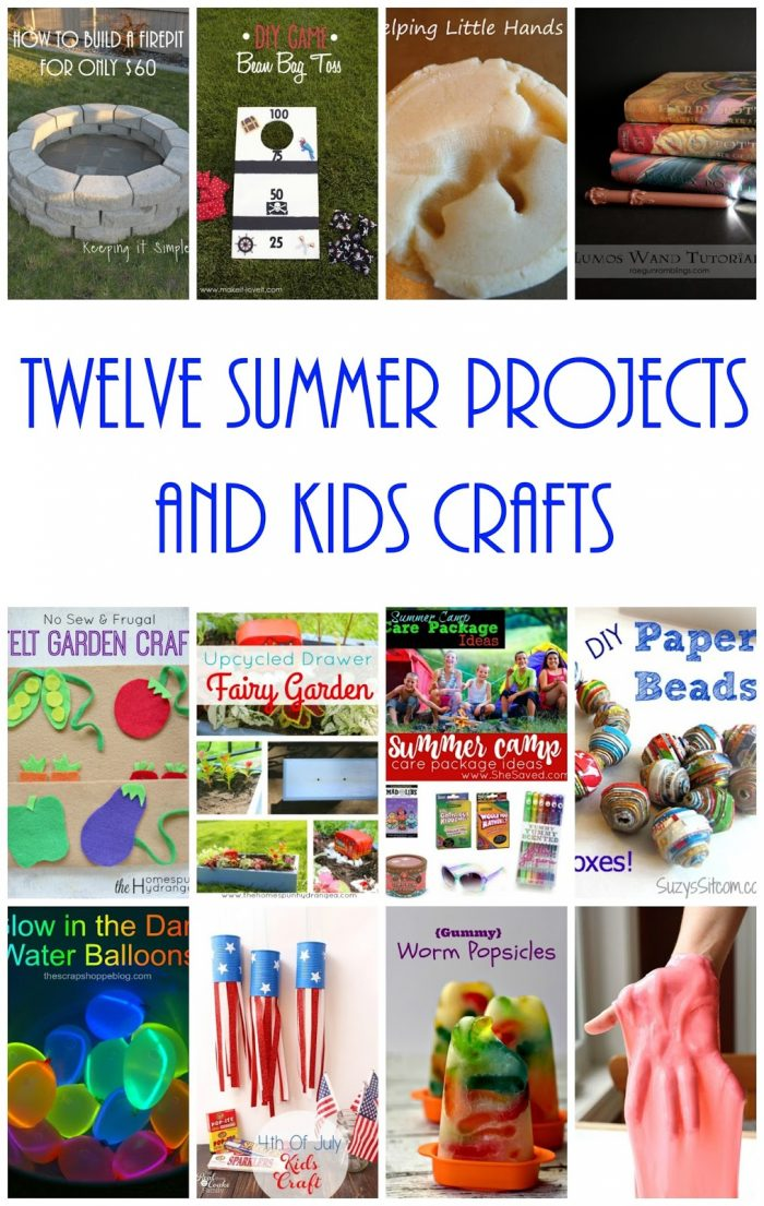 12 Summer Projects and Kids Crafts