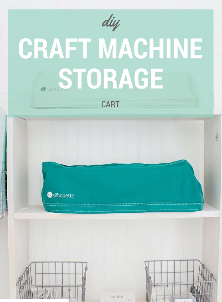 DIY Silhouette Craft Cart Storage