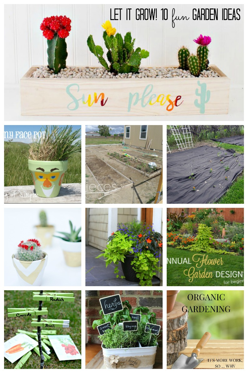 Let it Grow! 10 Fun Gardening Ideas. Love the Cactus succulent garden. so cute!