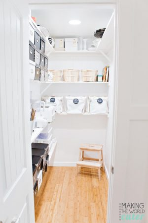 Pantry Reveal. Organization, remodel, white pantry, built in butler pantry.