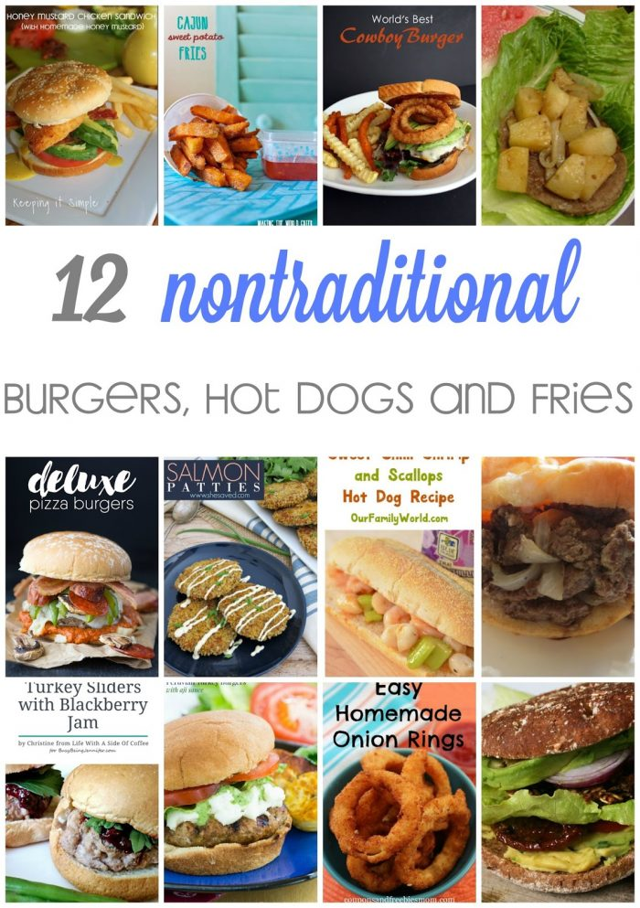 Fun Burger Recipes, Hot Dogs and Fries