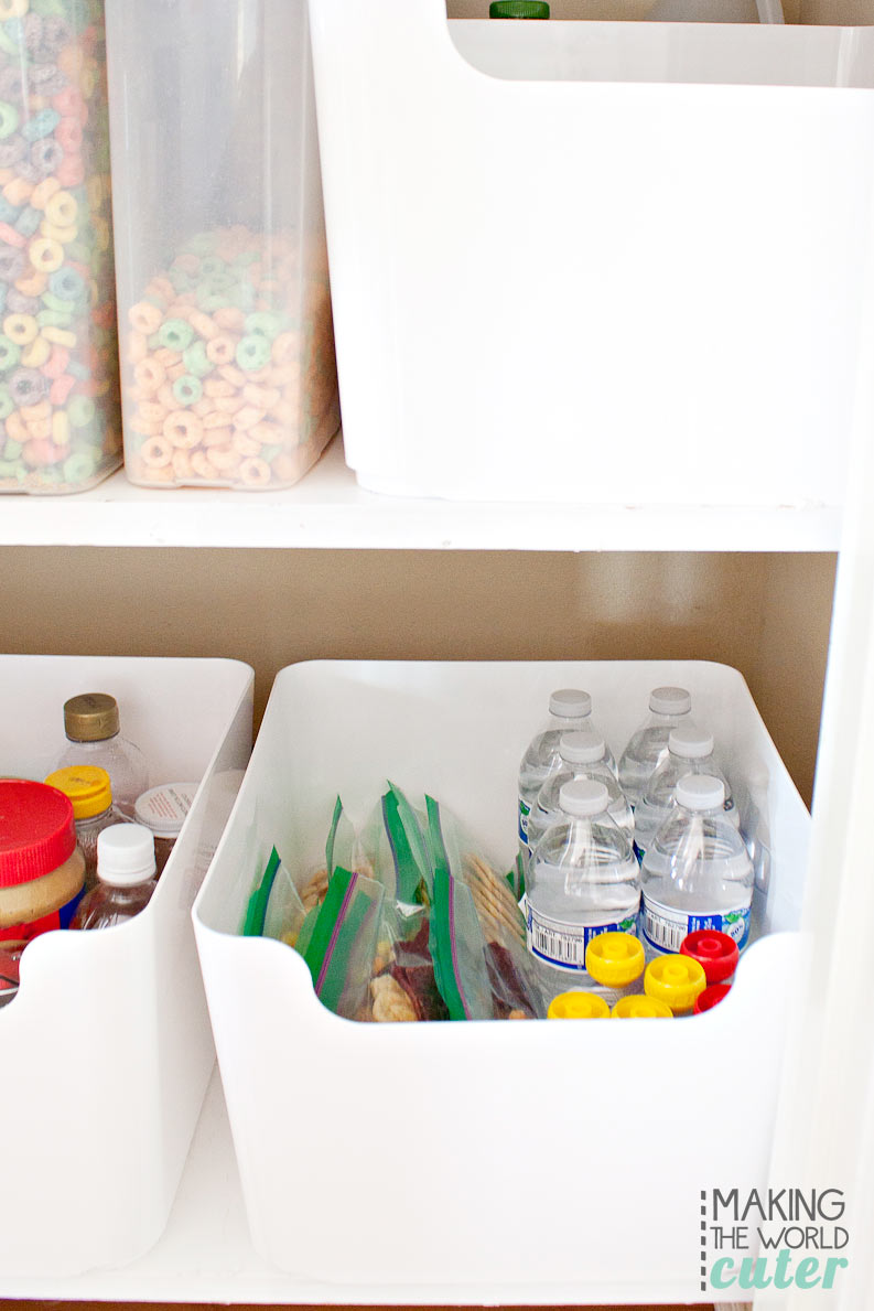 Pantry Snack Organizer #hackthehangry