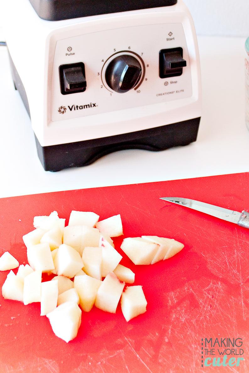 Salted Caramel Peach Shake Vitamix Recipe