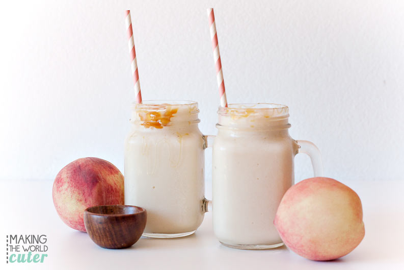 Salted Caramel Peach Shake Vitamix Recipe